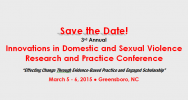 Domestic and Sexual Violence Research and Practice Conference Logo