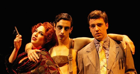 "Cabaret Performers Carly Ruda, Alex Cioffi and Brady Wease as ""Sally,"" ""Emcee"" and ""Cliff"""