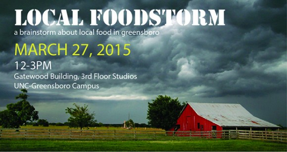 Students, faculty, and community members across Greensboro are invited to FOODSTORM - a local brainstorm about Greensboro's food needs.