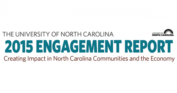 The 2015 UNC Community and Economic Engagement Report presented last week to the system's Board of Governors. Alongside teaching and research, public service is part of the University's core mission, creating an expectation that students and faculty will engage in the civic, economic, and cultural life of the state.