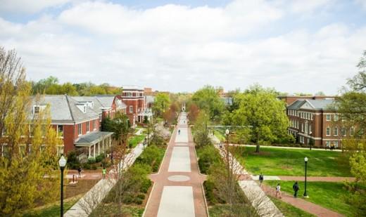 overhead photo of campus