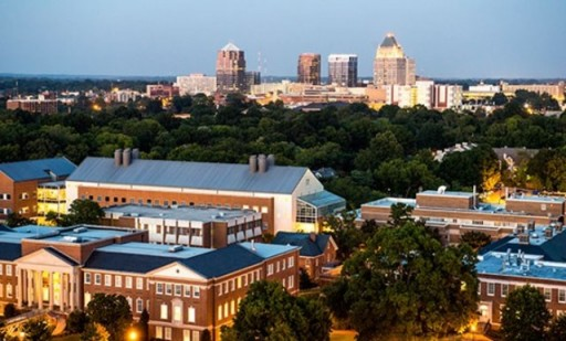 skyline of UNCG and downtown Greensboro