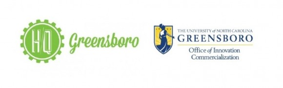 logos for hq greensboro and uncg office of innovation commercialization